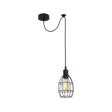 Подвесной светильник Maytoni Loft Denver T447-PL-01-B, 1xE27x60W, черный, металл