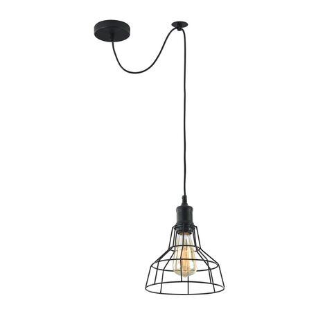 Подвесной светильник Maytoni Loft Denver T448-PL-01-B, 1xE27x60W, черный, металл
