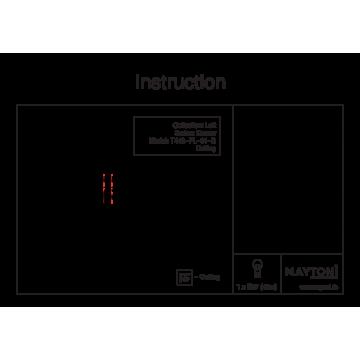 Схема с размерами Maytoni T448-PL-01-B