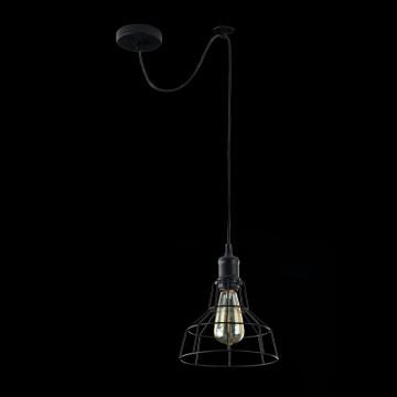 Подвесной светильник Maytoni Loft Denver T448-PL-01-B, 1xE27x60W, черный, металл - миниатюра 3