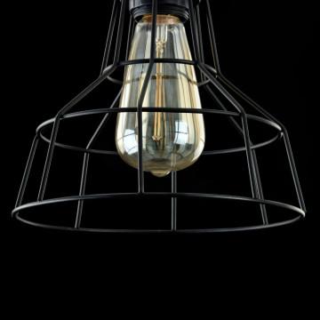Подвесной светильник Maytoni Loft Denver T448-PL-01-B, 1xE27x60W, черный, металл - миниатюра 6