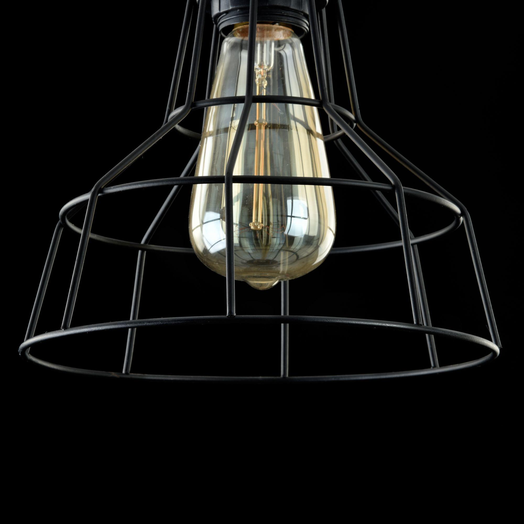 Подвесной светильник Maytoni Loft Denver T448-PL-01-B, 1xE27x60W, черный, металл - фото 6