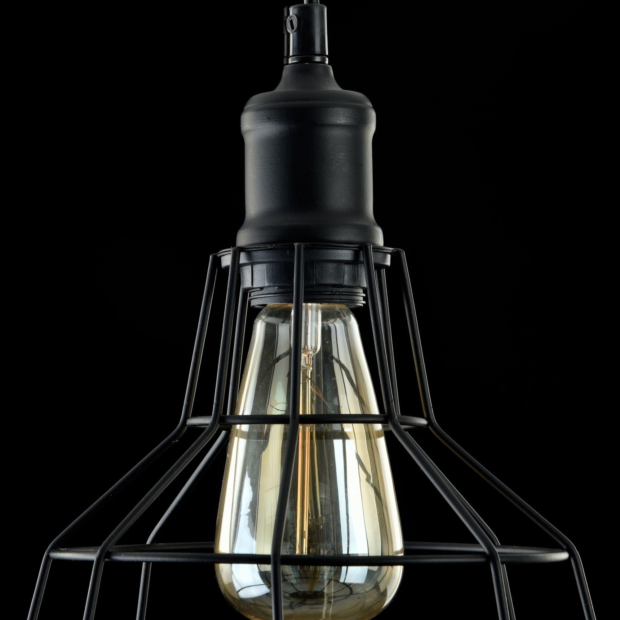 Подвесной светильник Maytoni Loft Denver T448-PL-01-B, 1xE27x60W, черный, металл - фото 7