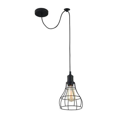Подвесной светильник Maytoni Loft Denver T450-PL-01-B, 1xE27x60W, черный, металл