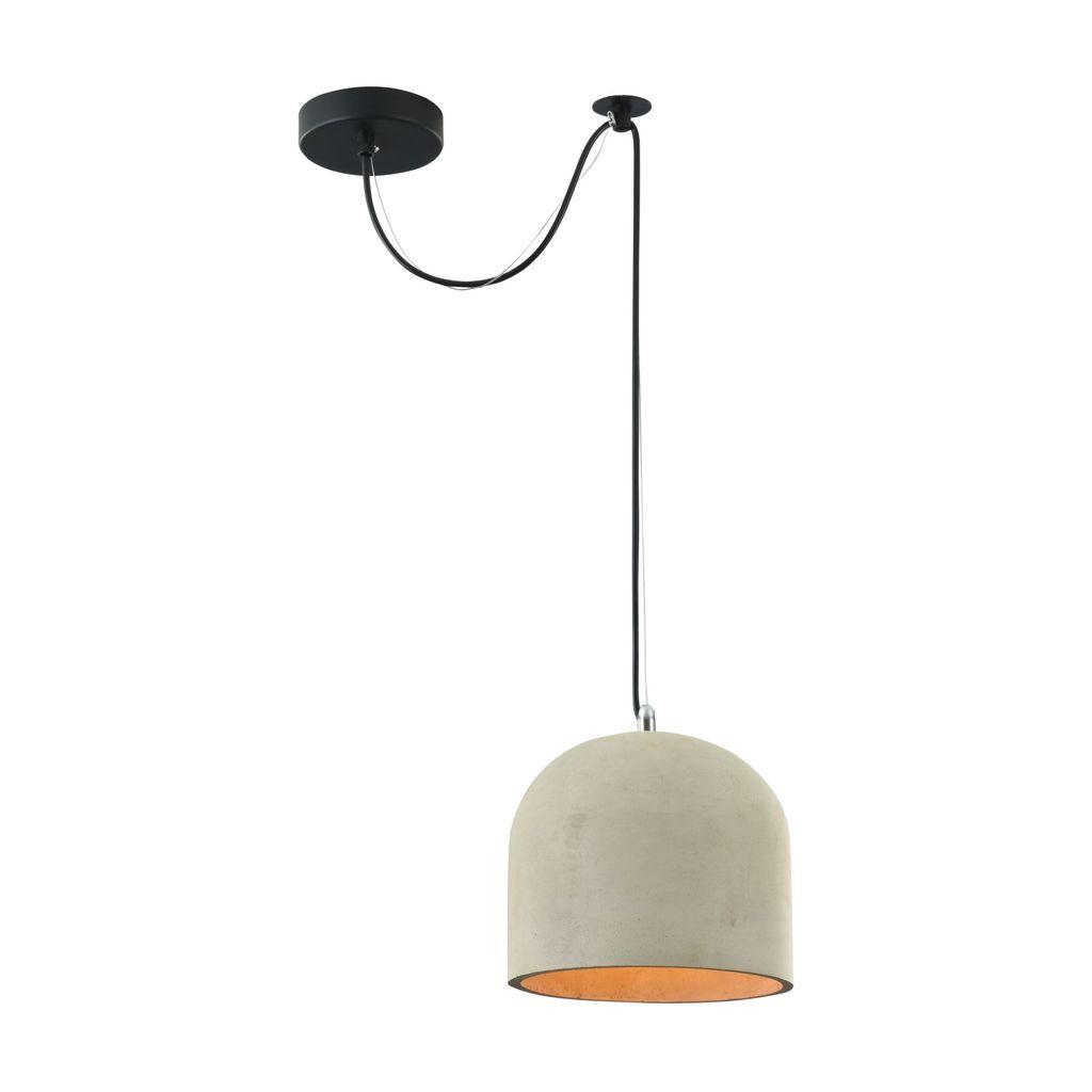 Подвесной светильник Maytoni Broni T451-PL-01-GR, 1xE27x40W, черный, серый, металл, бетон - фото 1