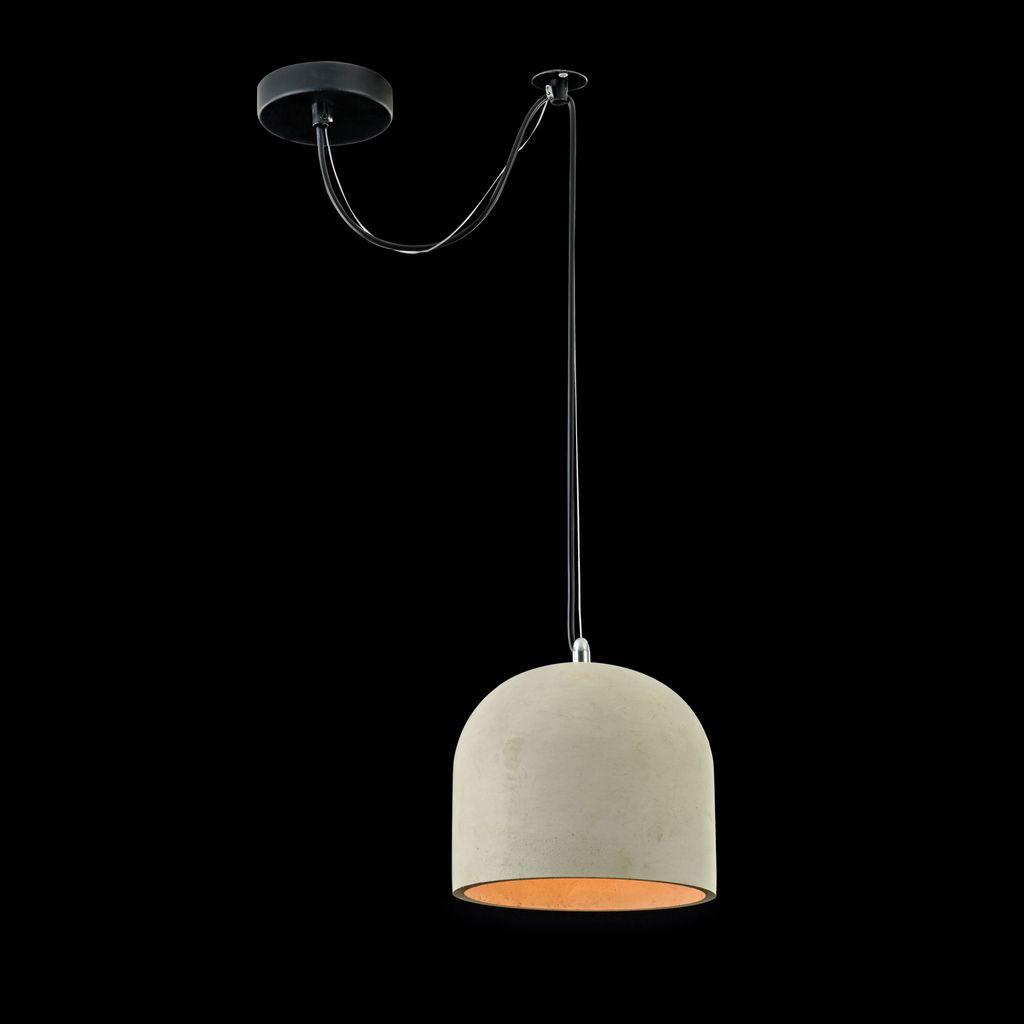 Подвесной светильник Maytoni Broni T451-PL-01-GR, 1xE27x40W, черный, серый, металл, бетон - фото 2