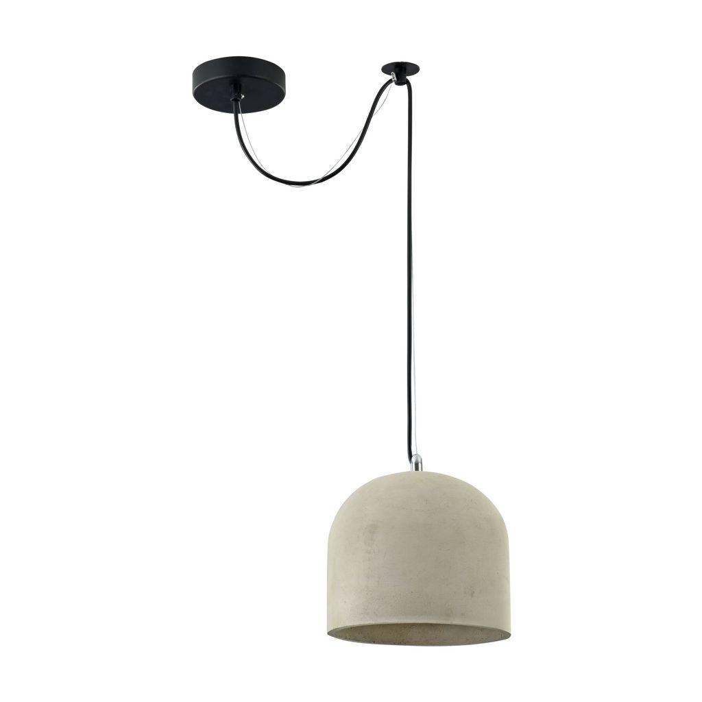 Подвесной светильник Maytoni Broni T451-PL-01-GR, 1xE27x40W, черный, серый, металл, бетон - фото 3
