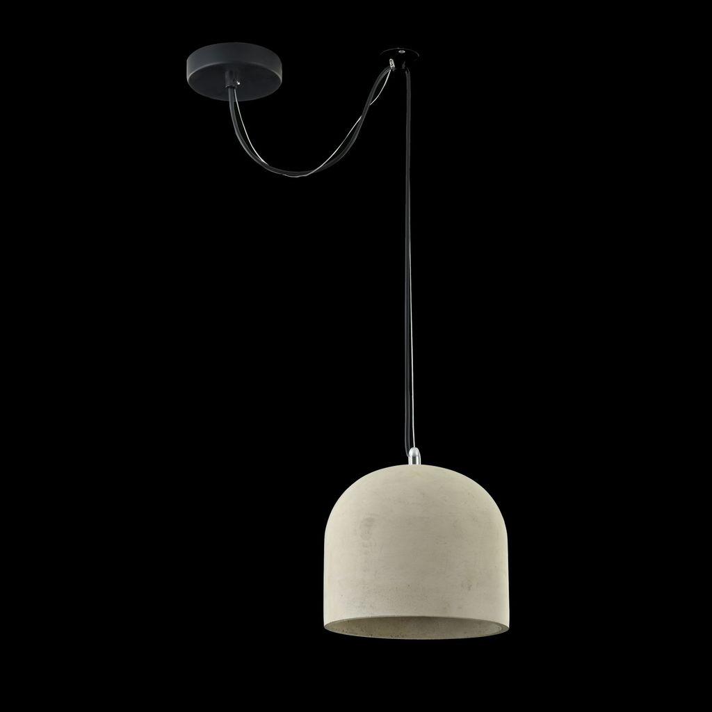 Подвесной светильник Maytoni Broni T451-PL-01-GR, 1xE27x40W, черный, серый, металл, бетон - фото 4
