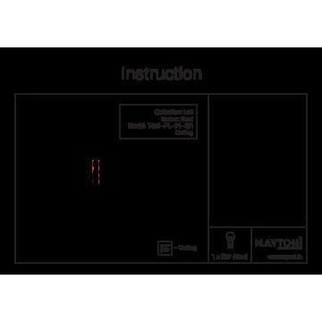 Схема с размерами Maytoni T451-PL-01-GR