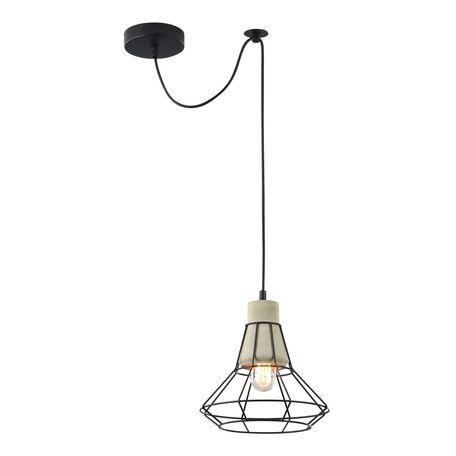 Подвесной светильник Maytoni Gosford T452-PL-01-GR, 1xE27x60W, черный, серый, металл, бетон