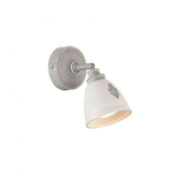 Потолочный светильник с регулировкой направления света Maytoni Agnes SP289-CW-01-BG, 1xGU10x35W, серый, белый, металл, керамика