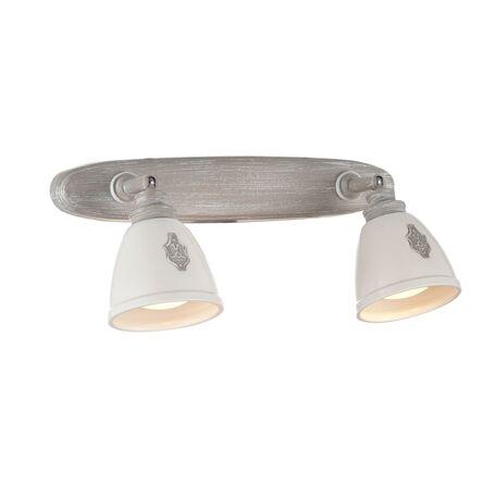 Потолочный светильник с регулировкой направления света Maytoni Agnes SP289-CW-02-BG, 2xGU10x35W, серый, белый, металл, керамика