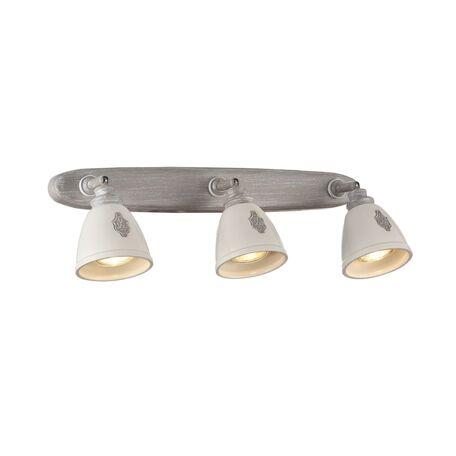 Потолочный светильник с регулировкой направления света Maytoni Classic Agnes SP289-CW-03-BG, 3xGU10x35W, серый, белый, металл, керамика