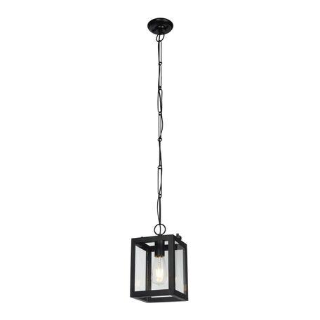 Подвесной светильник Maytoni Delphi T354-PL-01-B, 1xE27x60W, черный, прозрачный, металл, стекло