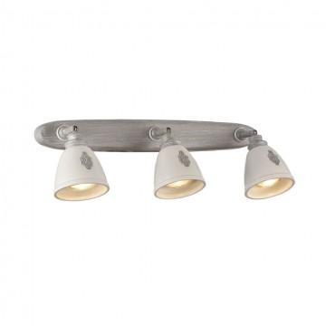 Потолочный светильник с регулировкой направления света Maytoni Agnes SP289-CW-03-BG, 3xGU10x35W, серый, белый, металл, керамика