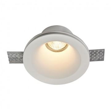 Встраиваемый светильник Maytoni Gyps Modern DL002-1-01-W, 1xGU10x35W, белый, под покраску, гипс