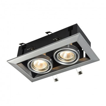 Встраиваемый светильник Maytoni Metal Modern DL008-2-02-S, 2xGU10x50W, серый, металл