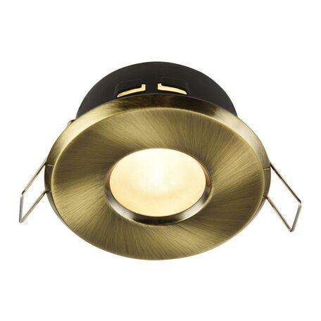 Встраиваемый светильник Maytoni Metal Modern DL010-3-01-BZ, 1xGU10x50W, бронза, металл, стекло