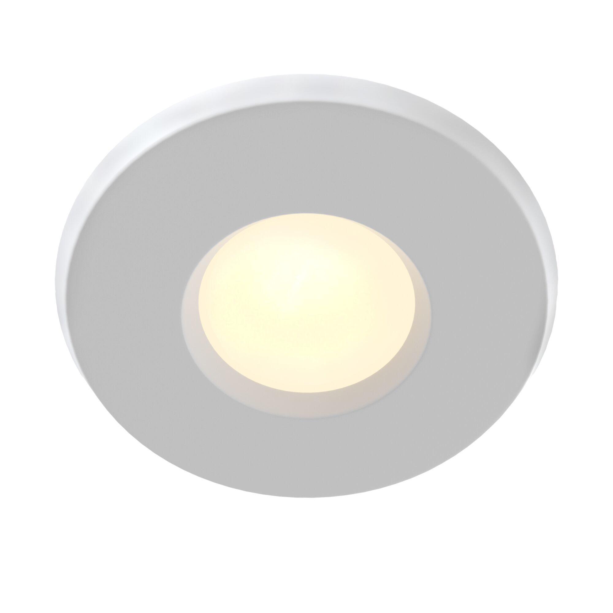 Встраиваемый светильник Maytoni Metal Modern DL010-3-01-W, 1xGU10x50W, белый, металл, стекло - фото 1