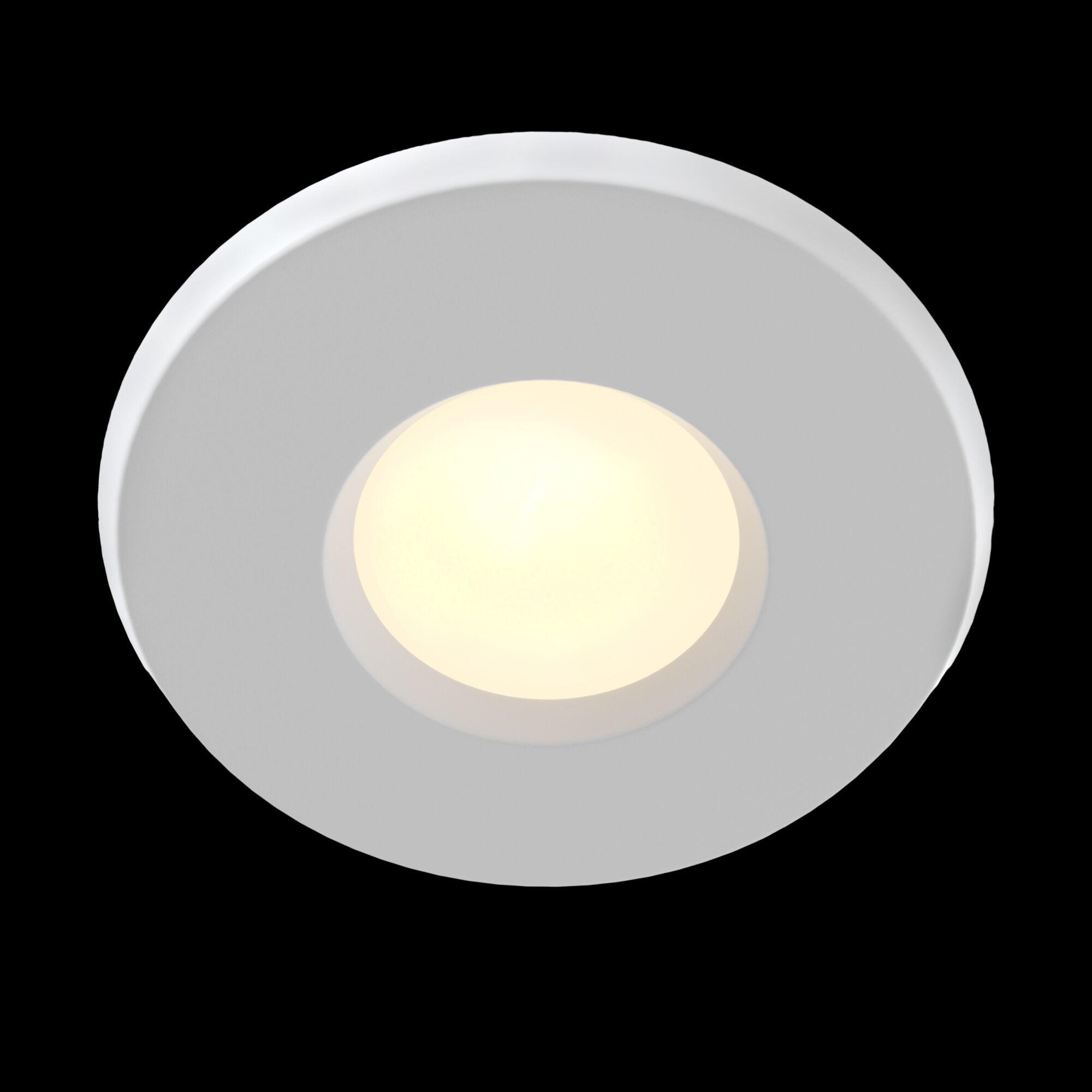 Встраиваемый светильник Maytoni Metal Modern DL010-3-01-W, 1xGU10x50W, белый, металл, стекло - фото 2
