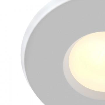 Встраиваемый светильник Maytoni Metal Modern DL010-3-01-W, 1xGU10x50W, белый, металл, стекло - миниатюра 3