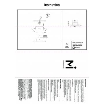 Схема с размерами Maytoni DL010-3-01-W