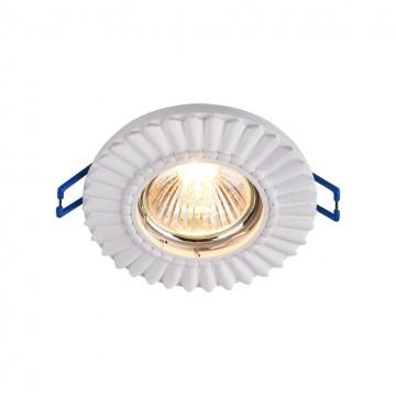 Встраиваемый светильник Maytoni Gyps Classic DL281-1-01-W, 1xGU10x35W, белый, под покраску, гипс