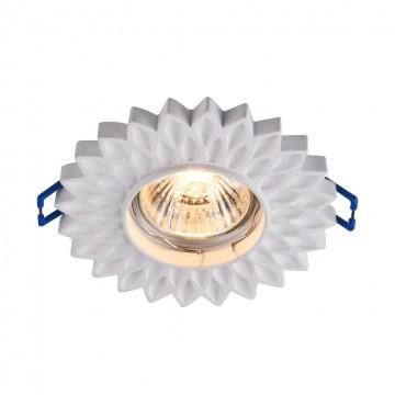 Встраиваемый светильник Maytoni Gyps Classic DL282-1-01-W, 1xGU10x35W, белый, под покраску, гипс