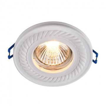 Встраиваемый светильник Maytoni Gyps Classic DL283-1-01-W, 1xGU10x35W, белый, под покраску, гипс - миниатюра 1