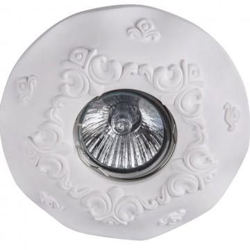 Встраиваемый светильник Maytoni Gyps Classic DL284-1-01-W, 1xGU10x35W, белый, под покраску, гипс - миниатюра 6