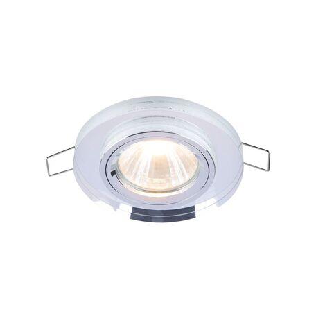 Встраиваемый светильник Maytoni Metal Modern DL289-2-01-W, 1xGU10x50W, прозрачный, стекло