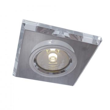 Встраиваемый светильник Maytoni Technical Metal Modern DL290-2-01-W, 1xGU10x50W, белый, стекло