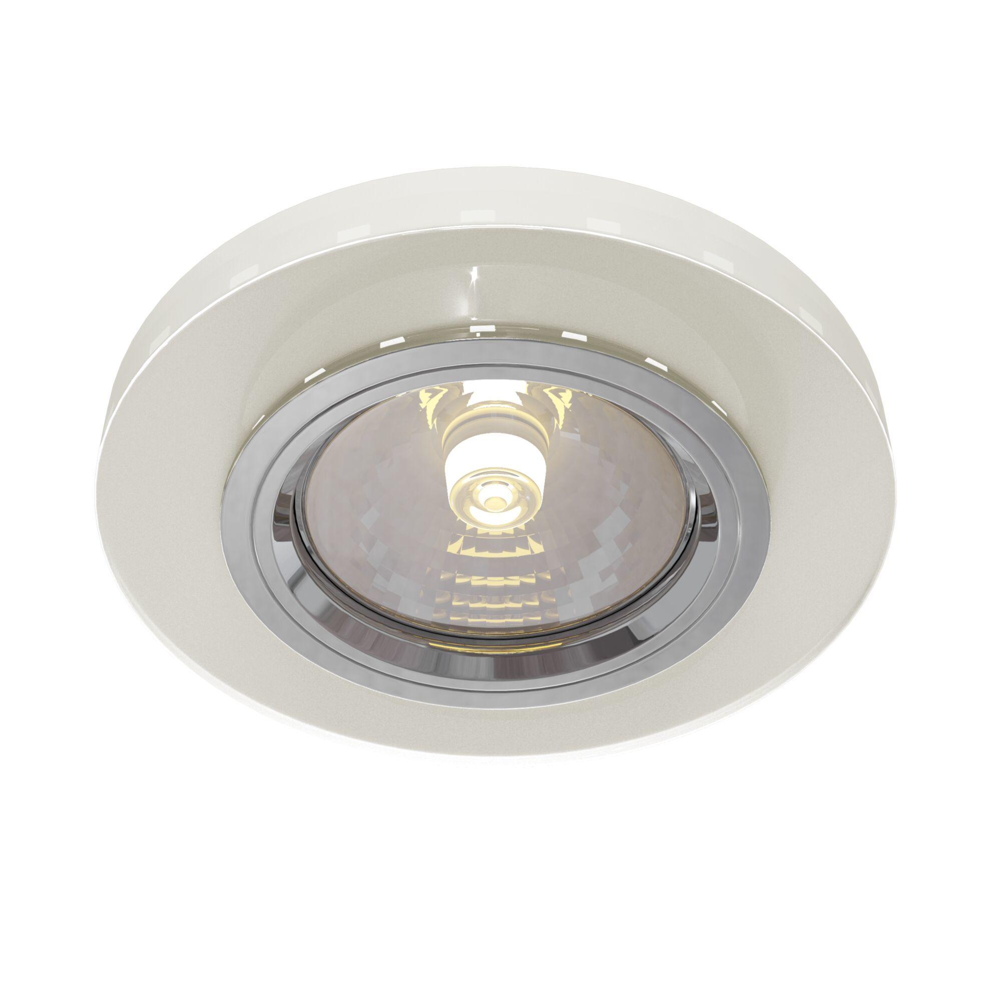Встраиваемый светильник Maytoni Metal Modern DL291-2-3W-W, 1xGU10x50W, белый, стекло - фото 1