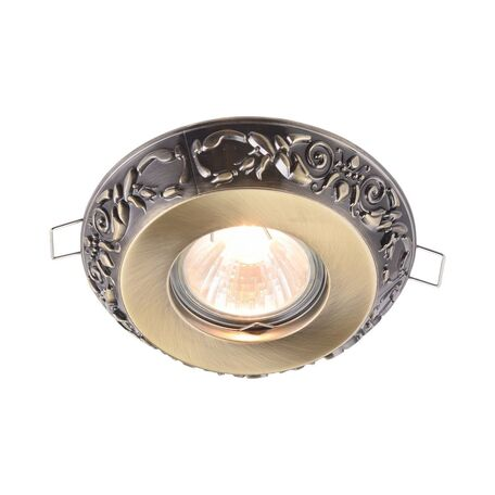 Встраиваемый светильник Maytoni Metal Classic DL300-2-01-BS, 1xGU10x50W, бронза, металл - миниатюра 1
