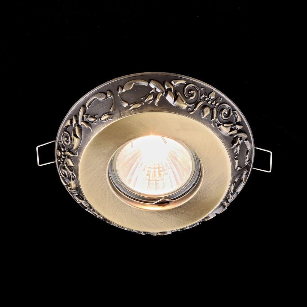 Встраиваемый светильник Maytoni Metal Classic DL300-2-01-BS, 1xGU10x50W, бронза, металл - фото 3