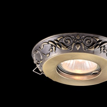 Встраиваемый светильник Maytoni Metal Classic DL300-2-01-BS, 1xGU10x50W, бронза, металл - миниатюра 5
