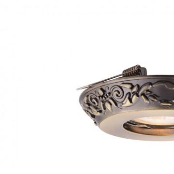 Встраиваемый светильник Maytoni Metal Classic DL300-2-01-BS, 1xGU10x50W, бронза, металл - миниатюра 7