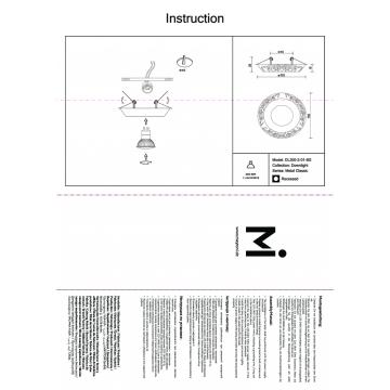 Схема с размерами Maytoni DL300-2-01-BS