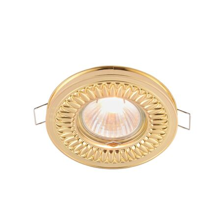 Встраиваемый светильник Maytoni Metal Classic DL301-2-01-G, 1xGU10x50W, золото, металл