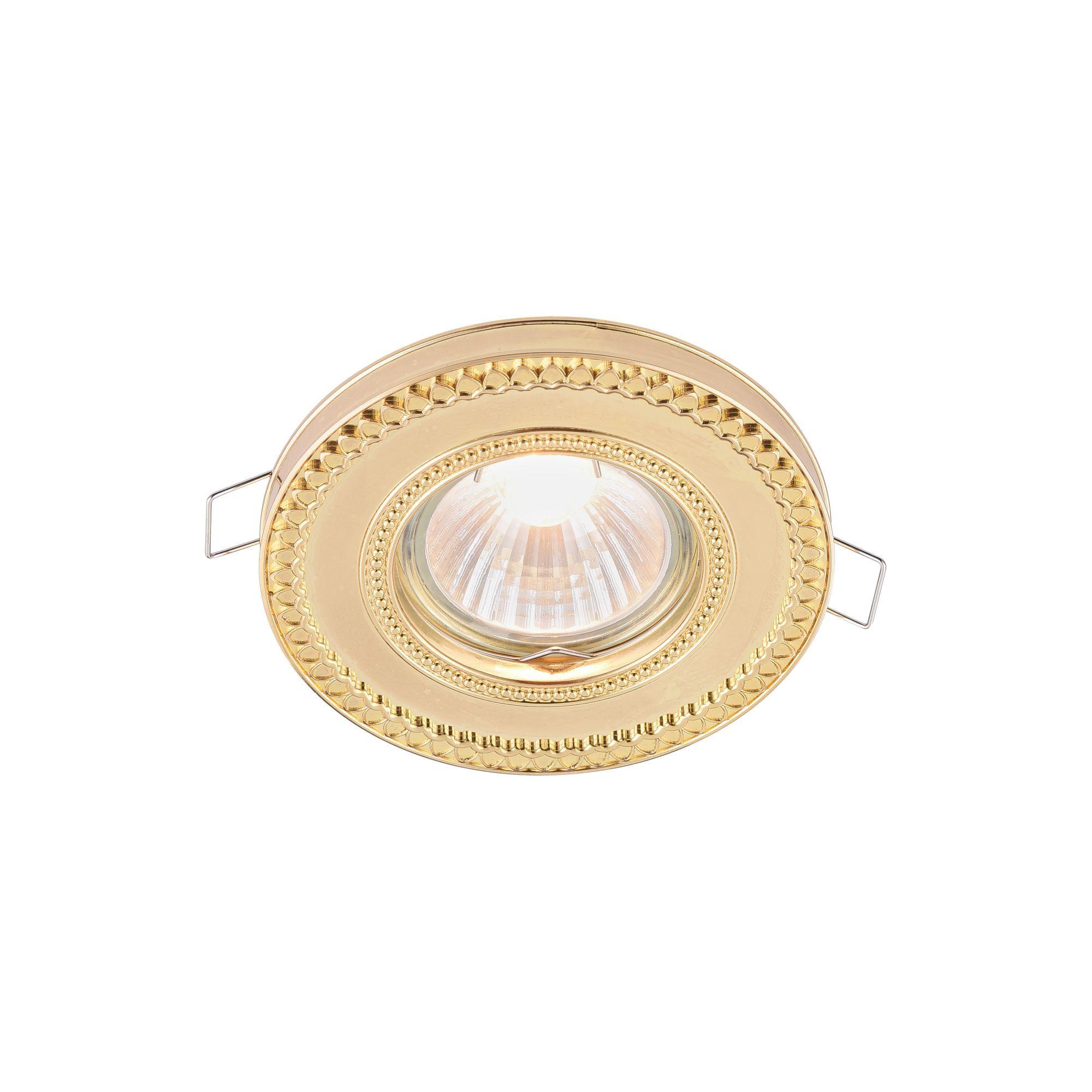 Встраиваемый светильник Maytoni Metal Classic DL302-2-01-G, 1xGU10x50W, золото, металл - фото 1