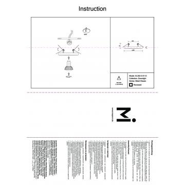 Схема с размерами Maytoni DL302-2-01-G