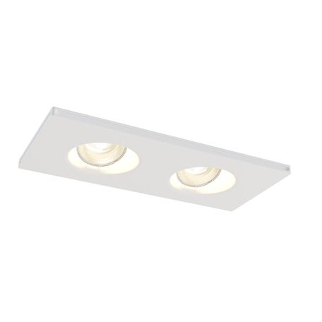 Встраиваемый светильник Maytoni Gyps Modern DL002-1-02-W, 2xGU10x35W, белый, под покраску, гипс