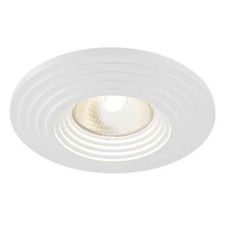 Встраиваемый светильник Maytoni Gyps Modern DL004-1-01-W, 1xGU10x35W, белый, под покраску, гипс