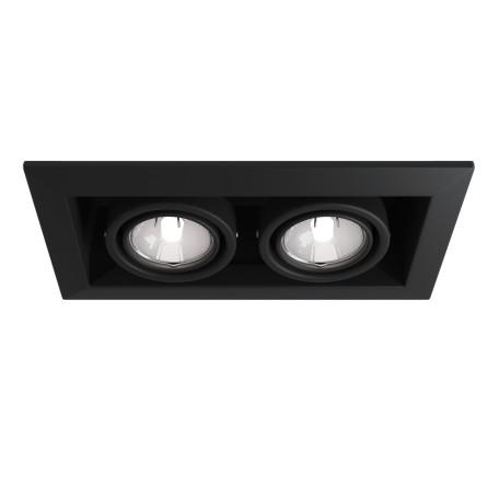 Встраиваемый светильник Maytoni Metal Modern DL008-2-02-B, 2xGU10x50W, черный, металл