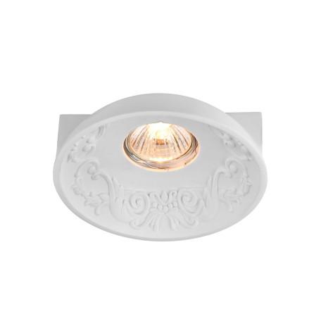 Встраиваемый светильник Maytoni Gyps Classic DL278-1-01-W, 1xGU10x35W, белый, под покраску, гипс