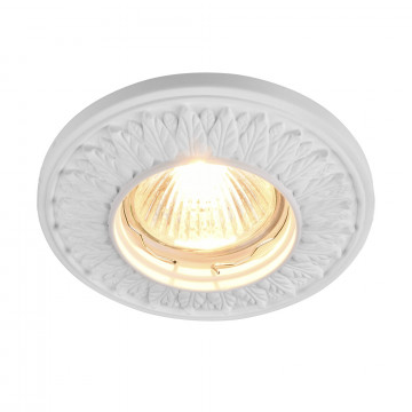 Встраиваемый светильник Maytoni Gyps Classic DL280-1-01-W, 1xGU10x35W, белый, под покраску, гипс