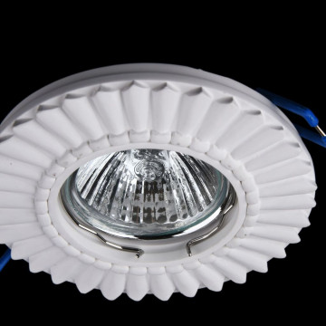 Встраиваемый светильник Maytoni Gyps Classic DL281-1-01-W, 1xGU10x35W, белый, под покраску, гипс - миниатюра 2