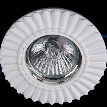 Встраиваемый светильник Maytoni Gyps Classic DL281-1-01-W, 1xGU10x35W, белый, под покраску, гипс - миниатюра 3