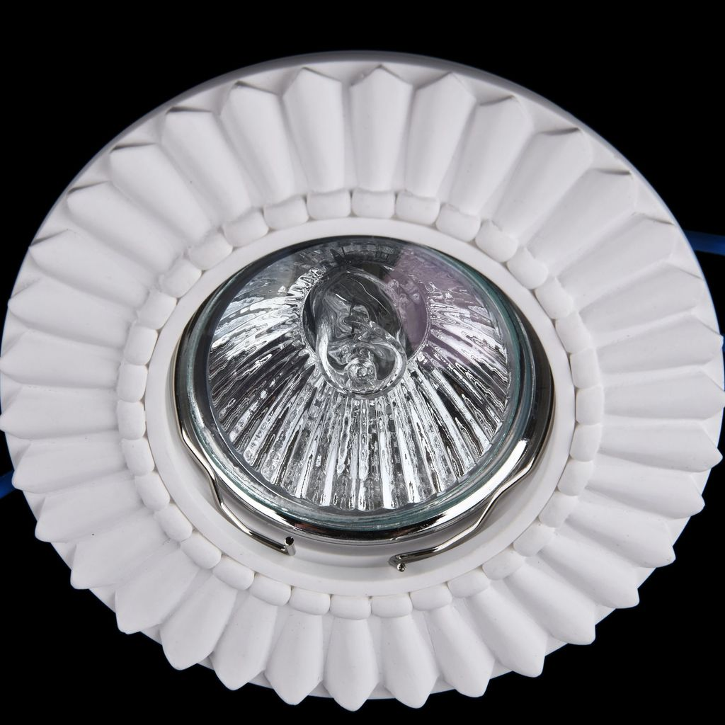 Встраиваемый светильник Maytoni Gyps Classic DL281-1-01-W, 1xGU10x35W, белый, под покраску, гипс - фото 3