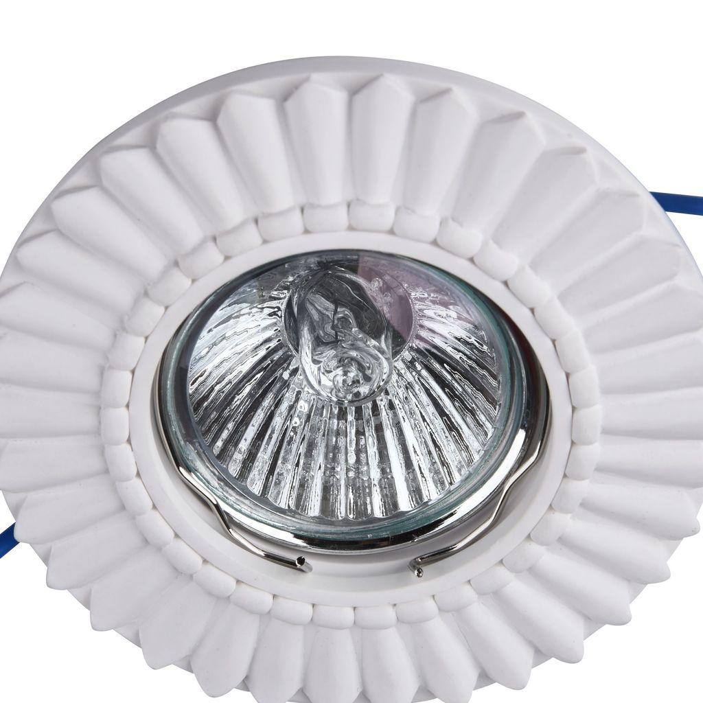 Встраиваемый светильник Maytoni Gyps Classic DL281-1-01-W, 1xGU10x35W, белый, под покраску, гипс - фото 4